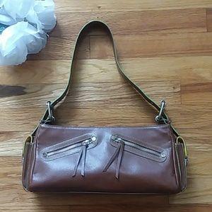 Hype Leather Baguette Handbag
